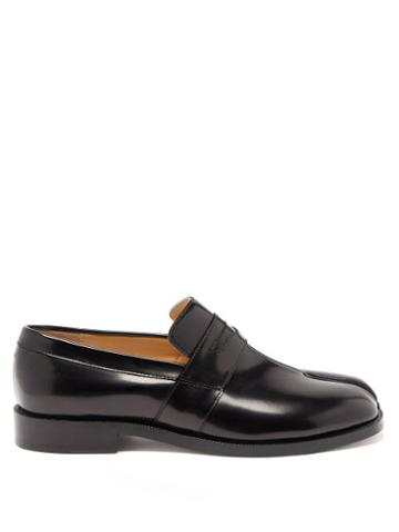 Matchesfashion.com Maison Margiela - Tabi Split-toe Leather Loafers - Womens - Black