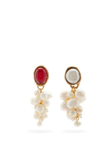 Matchesfashion.com Anita Berisha - Victorian Mismatched Baroque-pearl Earrings - Womens - Pearl