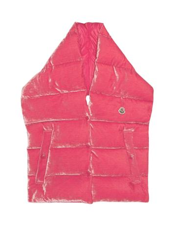Moncler Velvet Quilted-down Gilet Scarf