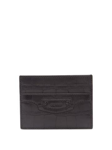Balenciaga - Neo Classic Croc-embossed Leather Cardholder - Mens - Black
