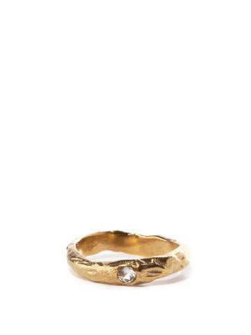 Matchesfashion.com Anita Berisha - April Birthstone & 14kt Gold-plated Ring - Womens - Clear
