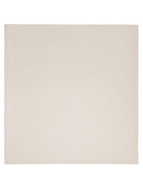 Matchesfashion.com Brunello Cucinelli - Cashmere Blend Rib Knit Blanket - Cream