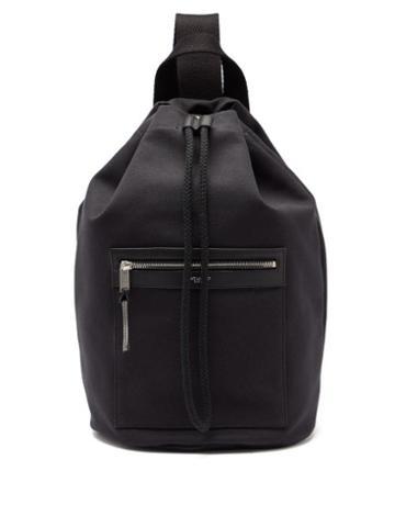 Matchesfashion.com Saint Laurent - Drawstring-top Canvas Backpack - Mens - Black
