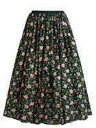 Ashish Floral-embellished Cotton Skirt