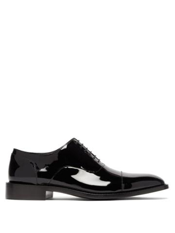 Matchesfashion.com Balenciaga - Crystal Embellished Patent Leather Oxford Shoes - Mens - Black