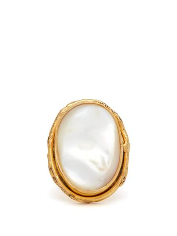 Sylvia Toledano Mother-of-pearl And Brass Ring