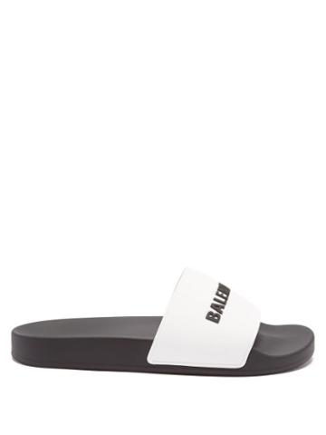 Balenciaga - Logo-embossed Rubber Slides - Womens - Black Multi