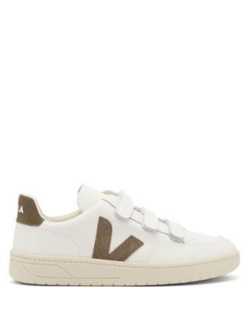 Matchesfashion.com Veja - V-lock Velcro-strap Leather Trainers - Mens - White Multi