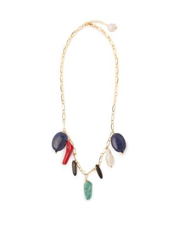 Matchesfashion.com Timeless Pearly - Catarina Stone & Pearl Drop Necklace - Womens - Multi