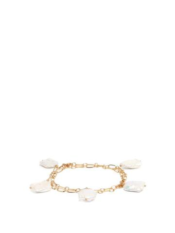 Matchesfashion.com Timeless Pearly - Baroque Pearl Chain Anklet - Womens - White