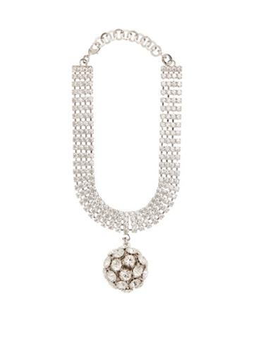 Matchesfashion.com Alessandra Rich - Crystal Embellished Sphere Choker - Womens - Crystal