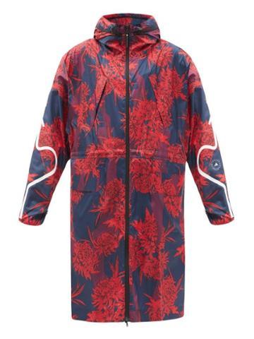 Matchesfashion.com Adidas By Stella Mccartney - Floral-print Recycled-ripstop Windbreaker Jacket - Womens - Blue Multi