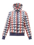 Matchesfashion.com Perfect Moment - Queenie Pixel Print Down Filled Ski Jacket - Womens - Navy Multi