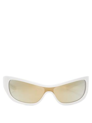 Matchesfashion.com Le Specs - X Adam Selman The Monster Cat Eye Sunglasses - Womens - White