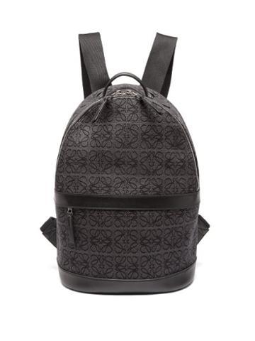 Loewe - Anagram-jacquard Canvas Backpack - Mens - Black