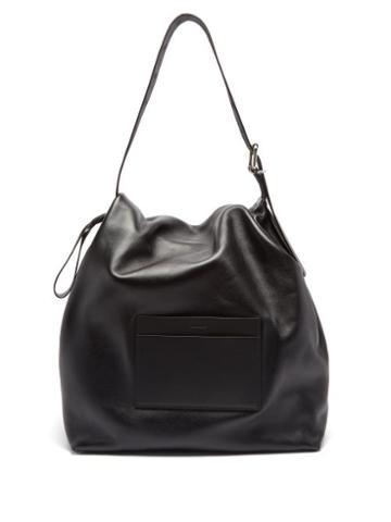 Jil Sander - Slouchy Leather Holdall Bag - Mens - Black