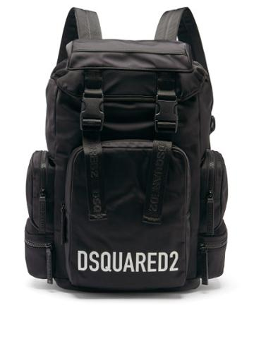 Matchesfashion.com Dsquared2 - Logo-print Satin-shell Backpack - Mens - Black