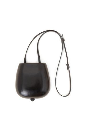 Matchesfashion.com Lemaire - Tacco Patent-leather Cross-body Bag - Womens - Black