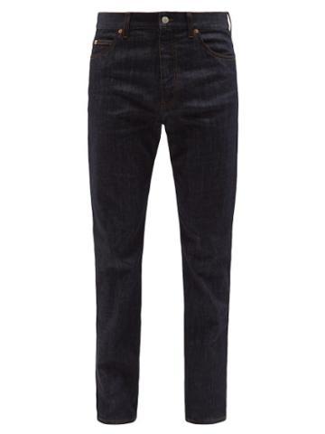 Gucci - Logo-patch Straight-leg Jeans - Mens - Dark Blue