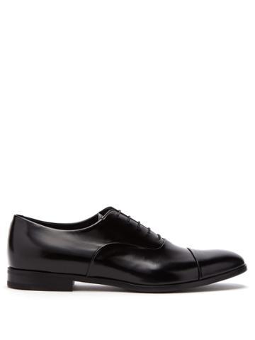 Prada Polished Leather Oxford Shoes
