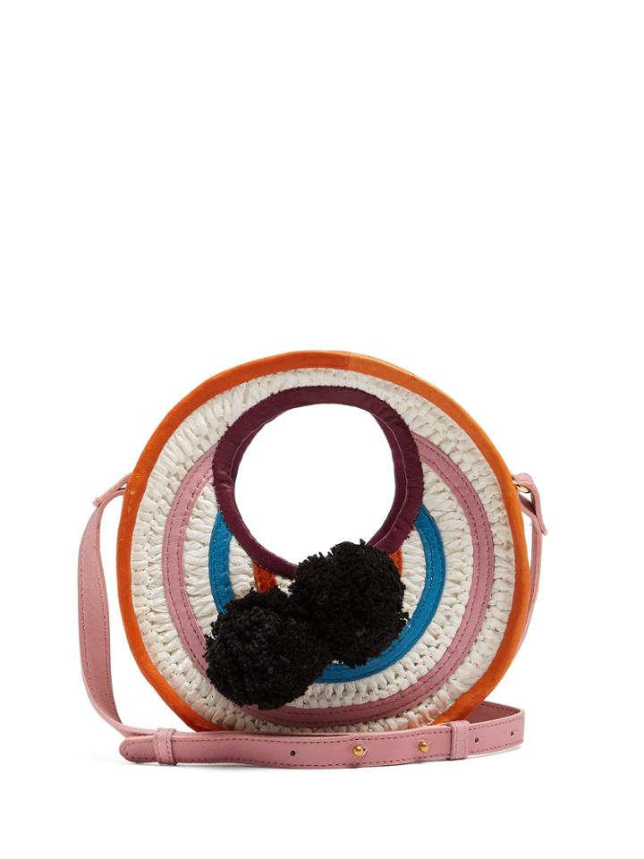Sophie Anderson Perla Mini Circle Raffia Cross-body Bag
