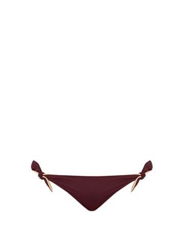 Matchesfashion.com Solid & Striped - The Jane Bikini Briefs - Womens - Burgundy