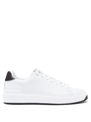 Matchesfashion.com Balmain - B-court Leather Trainers - Mens - White Black