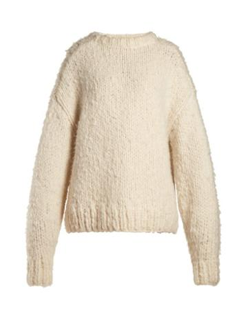 Matchesfashion.com The Row - Ophelia Oversized Cashmere Sweater - Womens - Cream