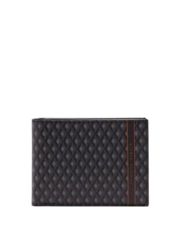 Matchesfashion.com Dunhill - Engine Turn Coated Canvas Bi Fold Leather Wallet - Mens - Grey