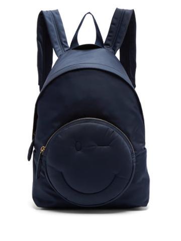 Matchesfashion.com Anya Hindmarch - Chubby Wink Backpack - Womens - Navy