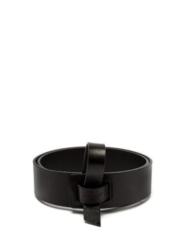 Matchesfashion.com Saint Laurent - Strap Fastening Leather Belt - Womens - Black