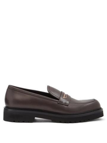 Rupert Sanderson - Mundra Trek-sole Leather Penny Loafers - Womens - Brown