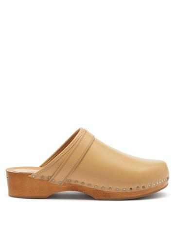 Isabel Marant - Thalie Leather Clogs - Womens - Beige