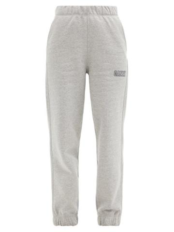 Matchesfashion.com Ganni - Software Recycled Cotton-blend Track Pants - Womens - Light Grey