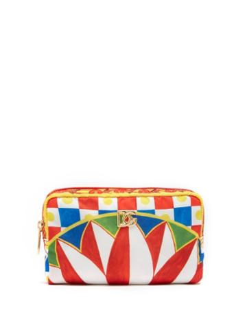 Ladies Accessories Dolce & Gabbana - Checked Makeup Bag - Womens - Multi