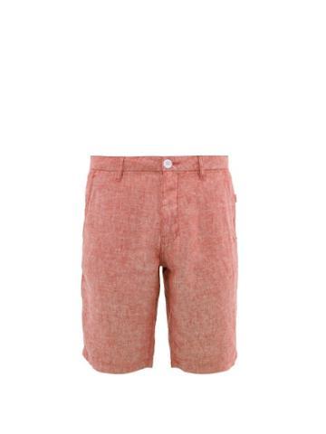 Matchesfashion.com Onia - Austin Linen Shorts - Mens - Red