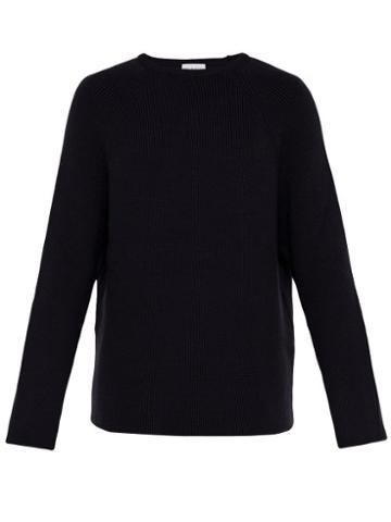 Matchesfashion.com Raey - Crew Neck Merino Wool Sweater - Mens - Navy
