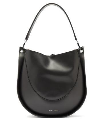 Matchesfashion.com Proenza Schouler - Hobo Large Leather Shoulder Bag - Womens - Black