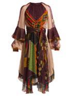 Etro Lea Fil-coup Patchwork Midi Dress