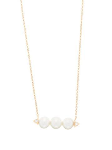 Matchesfashion.com Mizuki - Diamond & Pearl Necklace - Womens - Pearl