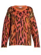 Stella Mccartney Leopard-print Mohair Sweater