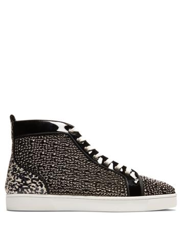 Christian Louboutin Louis Orlato High-top Patent-leather Trainers