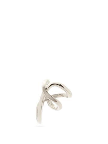 Matchesfashion.com Alan Crocetti - Space Warp Mini Sterling-silver Ear Cuff - Mens - Silver
