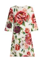 Dolce & Gabbana Rose And Peony-print Dress