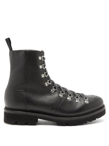 Matchesfashion.com Grenson - Brady Pebble-grain Leather Boots - Mens - Black