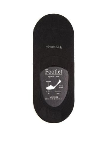 Matchesfashion.com Pantherella - Footlet Cotton Blend Shoe Liners - Mens - Black