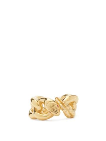 Matchesfashion.com Alan Crocetti - Nashash Mini Ruby & Gold-plated Ear Cuff - Mens - Gold