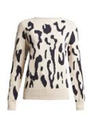 Matchesfashion.com Max Mara Studio - Albata Sweater - Womens - Cream Navy