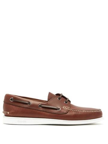Matchesfashion.com Church's - Marske Leather Deck Shoes - Mens - Brown