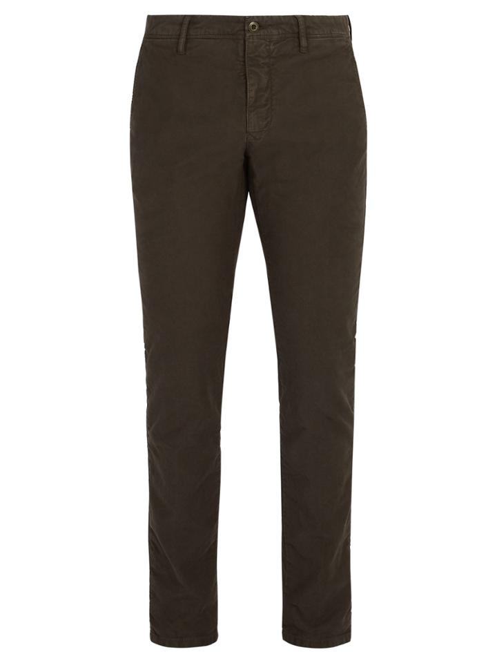 Incotex Slim Fit Cotton Blend Chino Trousers